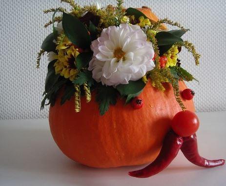Осенний букет из тыквы своими руками фото