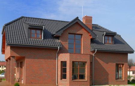 Дом из керамического кирпича.