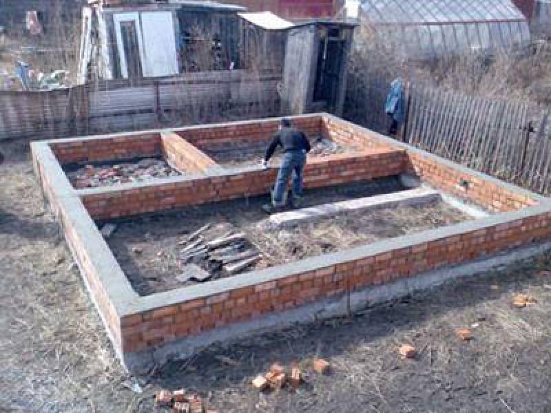 Как построить ленточный фундамент под баню своими руками