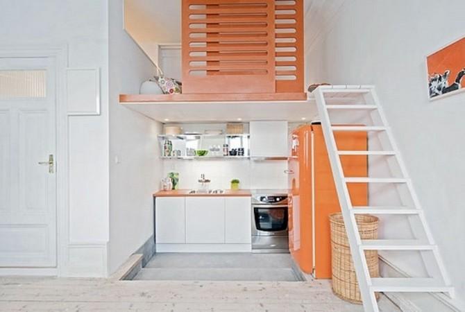 Антресоль в квартире дизайн 129