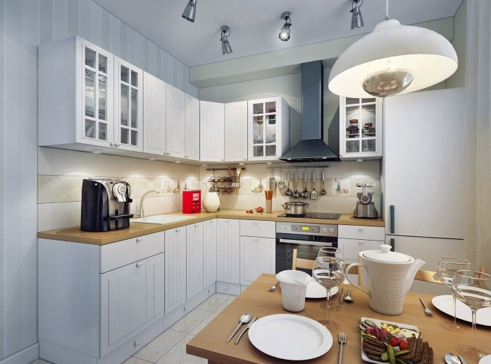 как организовать освещение на кухне