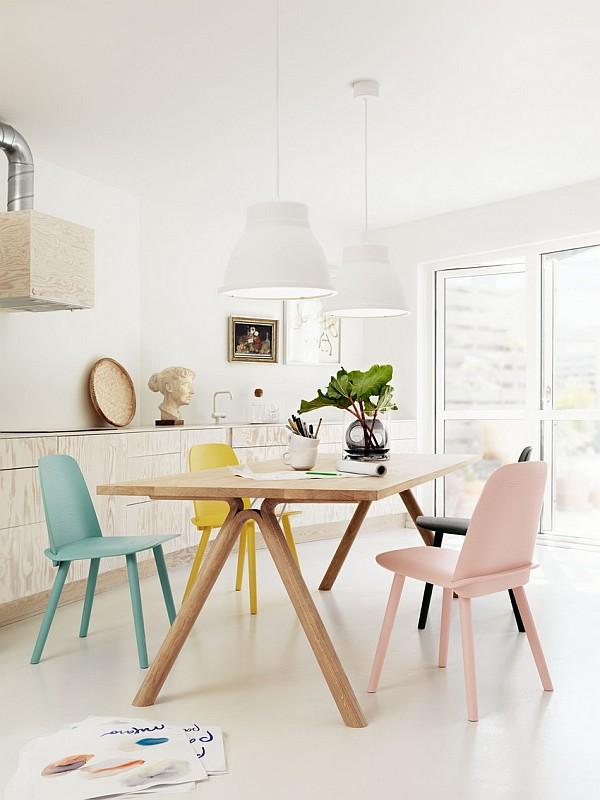 пластиковая стол для столовой в скандинавском стиле