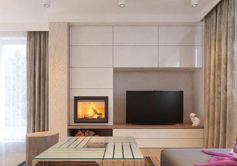 Использование ОСБ в элементах декора интерьера