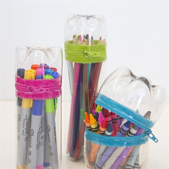 пластикові бутилки вироби - карандашниця. Фото