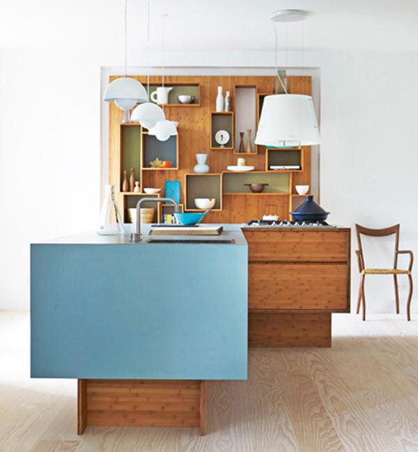 Бамбуковый шкаф для кухни