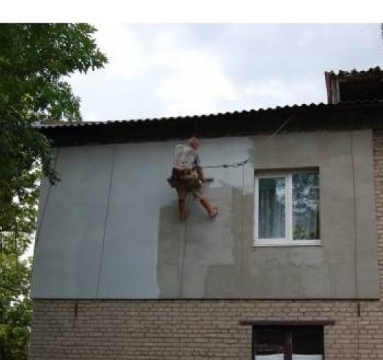 Фасад будинку по мокрому типу