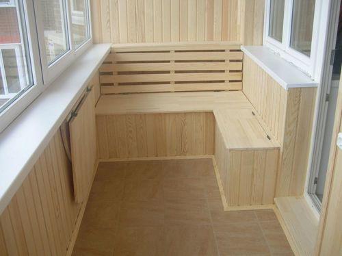Наилучший вариант при отделке балкона