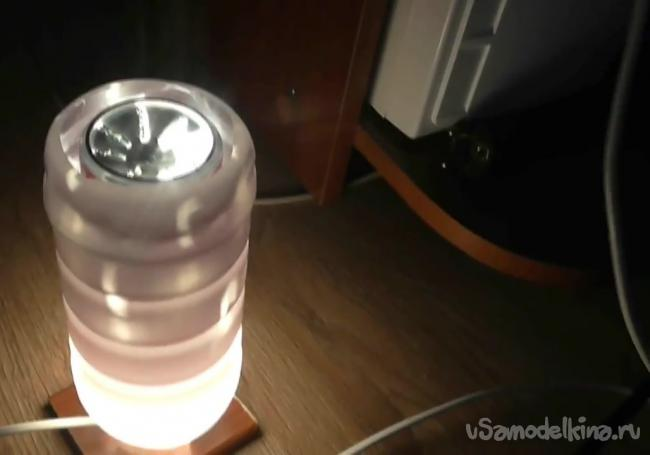 Робимо світильник з обертанням від тепла