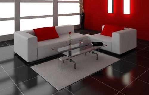 Керамическая плитка в гостиной - фото интерьеров