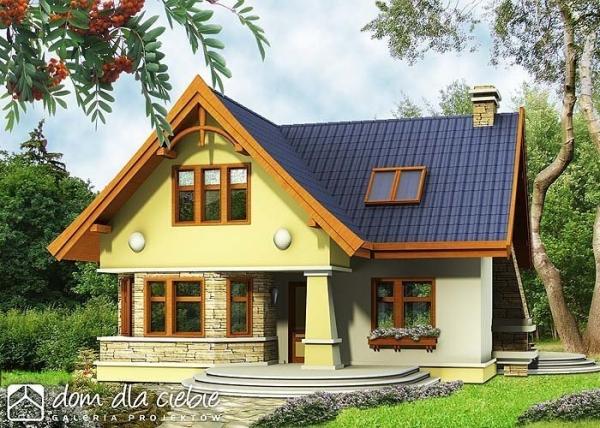 Проект дома с мансардой _S?jka без гаража