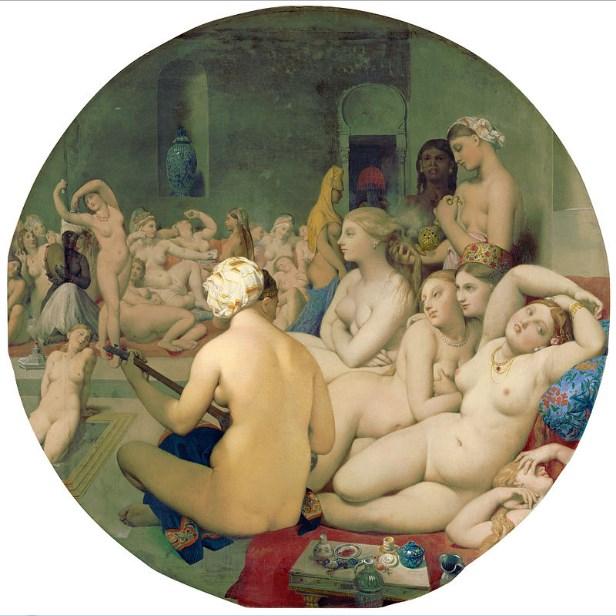 турецкая баня картина французского художника
