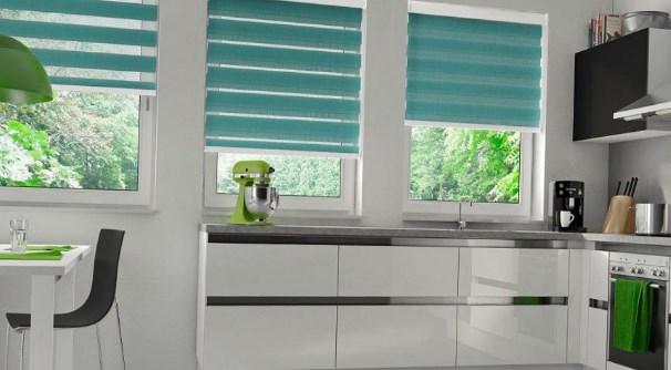 Ролл шторы на кухне