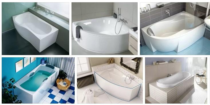 формы акриловых ванн фото