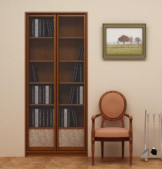 книжный шкаф в нише