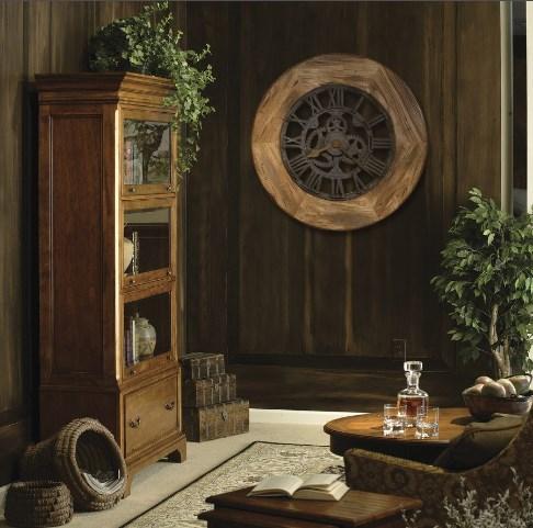 Часы из дерева настенные в интерьере фото