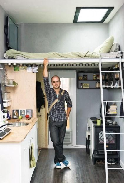 двухъярусная комнат гостиная спальня