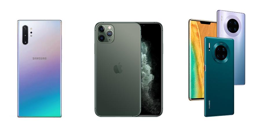 iPhone 11 Pro и iPhone 11 Pro Max по сравнению с конкурентами