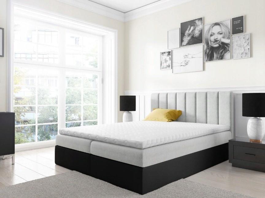 Континентальная кровать и матрас.