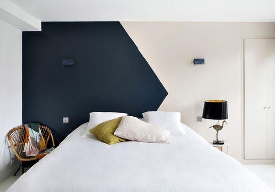 покраски стен в два цвета