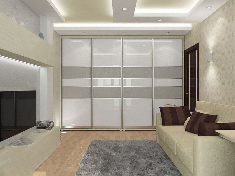 Встроенные шкафы-купе в гостиную.