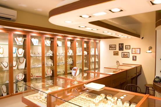 Освещение ювелирного магазина