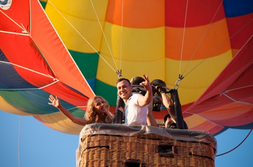 выбрать подруге прогулка на воздушном шаре