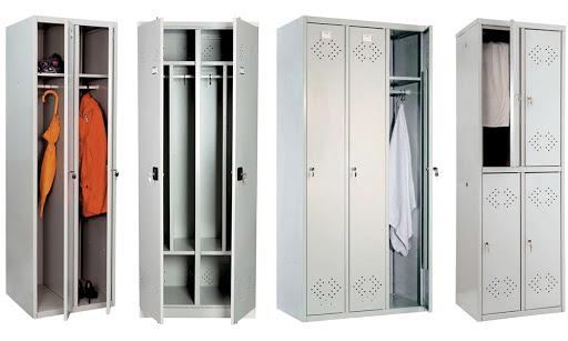 двухстворчатый шкаф для одежды металлический для раздевалки