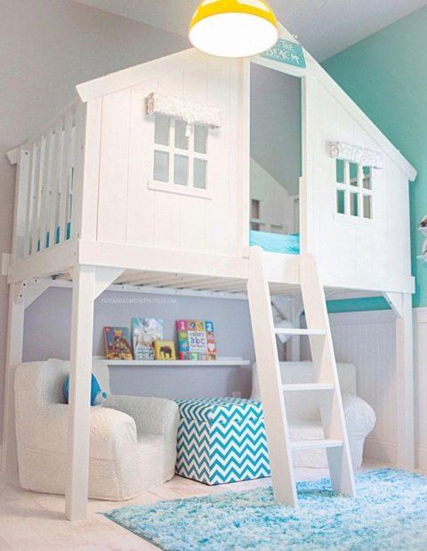 Кровать-домик – практичный подарок для ребенка
