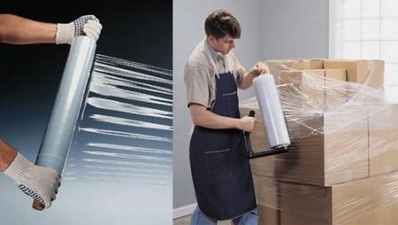 упаковка товаров стрейч пленкой