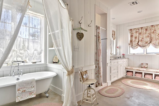 ванная комната в романтическом стиле