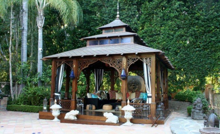мавританский стиль садовой беседки