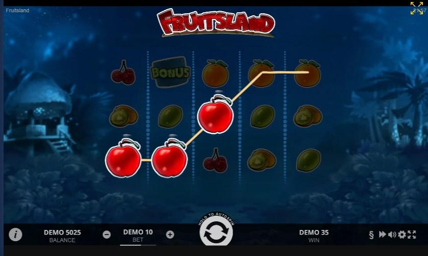 Игровой автомат Fruits Land -игровое поле