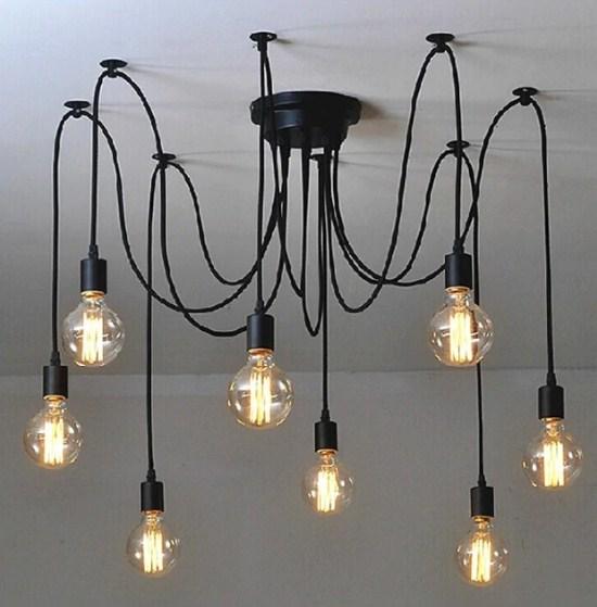 Подвесные светильники-пауки ретро лофт