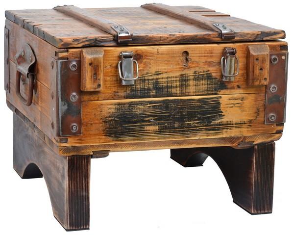 мебель для библиотеки - деревянный сундук в стиле лофт