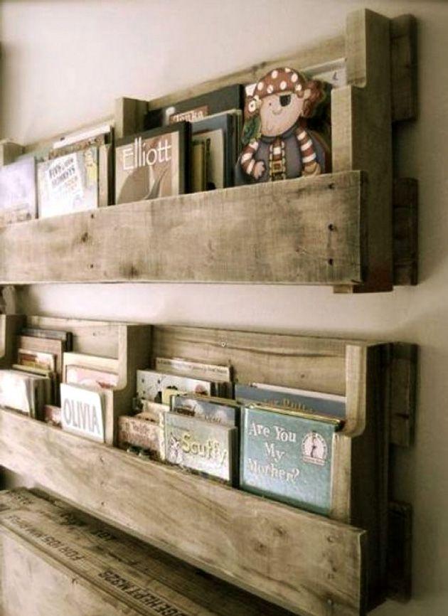 мебель для библиотеки из паллет в стиле лофт