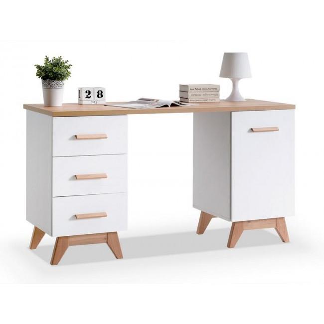 Деревянные простые компьютерные столы с ящиками скандинавский стиль