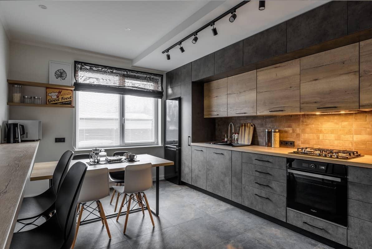 удобная современная кухня