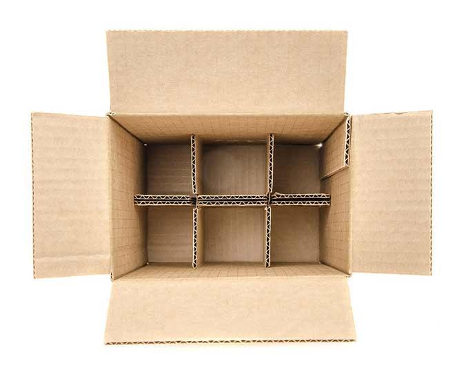 Картонные коробки из гофрокартона с клапаном