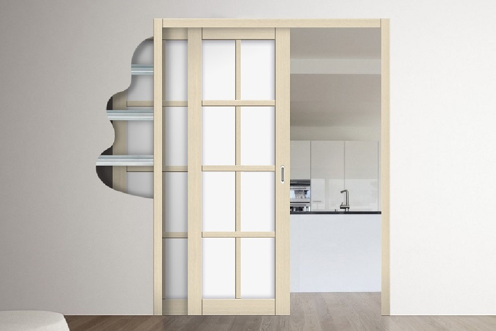 Скрытая раздвижная дверь в стене