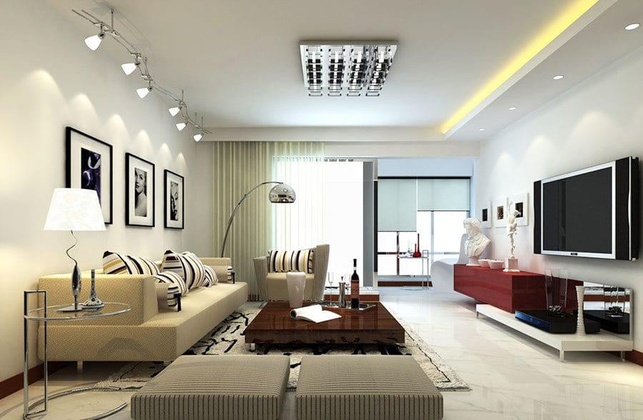 Освещение в гостиной и советы по его организации